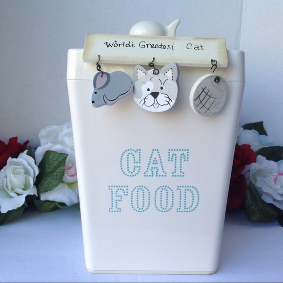Cat Food Canister Martha Stewart Pets Wooden Sign